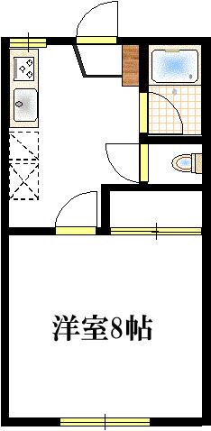 1階 洋室8帖 2階 和室8帖(間取)