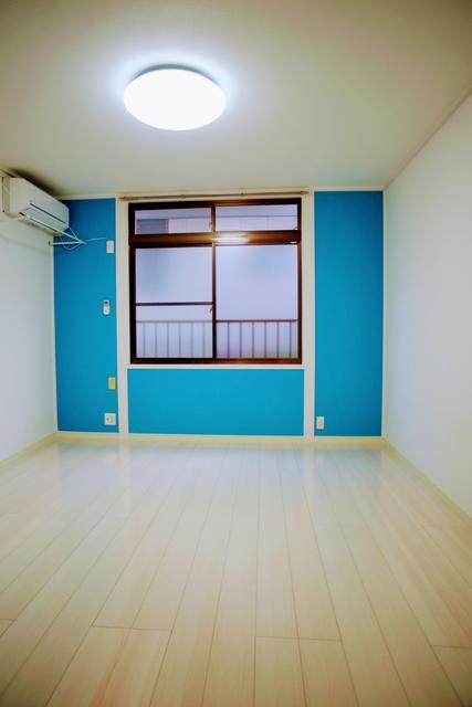 船岡西 仙台大学徒歩11分  ネット無料で家電付のリノベーション物件  ラクラス 洋室8帖1階 36,000円