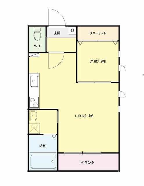船岡字七作新築 男前の濃紺 1LDKアパート エントランスが素敵です